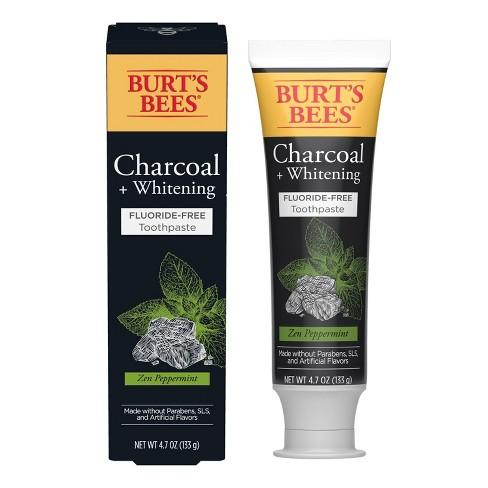 Burt's Bees Toothpaste Fluoride Free Charcoal Zen Peppermint - 4.7oz - image 1 of 4