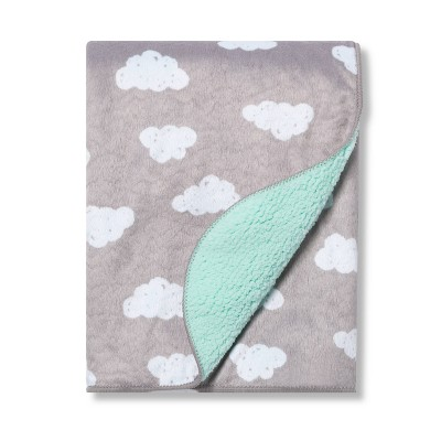 Plush Velboa Baby Blanket Clouds - Cloud Island™