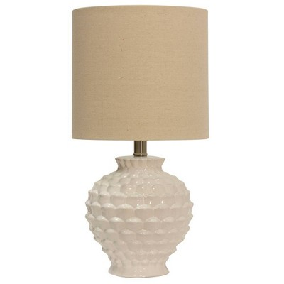 Ceramic Table Lamp White - StyleCraft