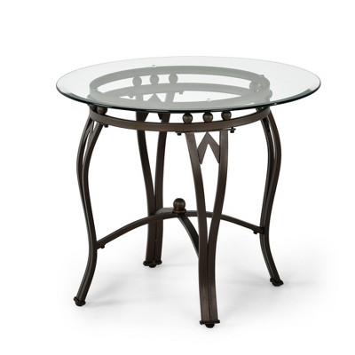 Madrid End Table Glass and Metal - Steve Silver
