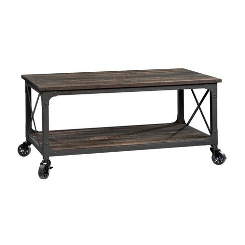 Steel River Coffee Table Carbon Oak Sauder