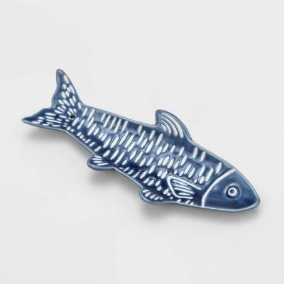 Ceramic Fish Liquidless Incense Stand Blue - Opalhouse™