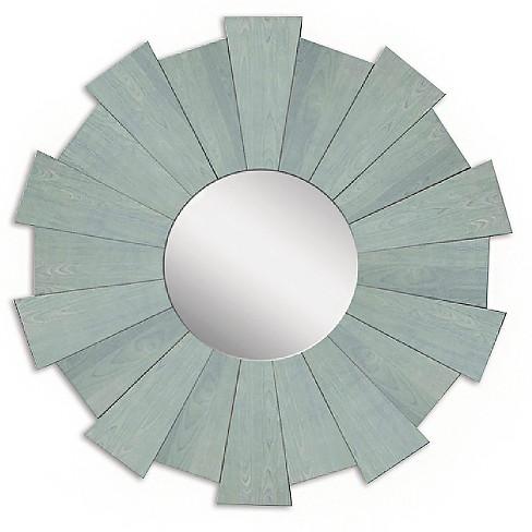 Sunburst Rustic Wood Decorative Wall Mirror Blue - PTM Images - image 1 of 2