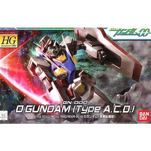 Bandai Hobby Gundam 00 #45 O / 0 Gundam Type A.C.D. HG 1/144 Model Kit - image 1 of 3