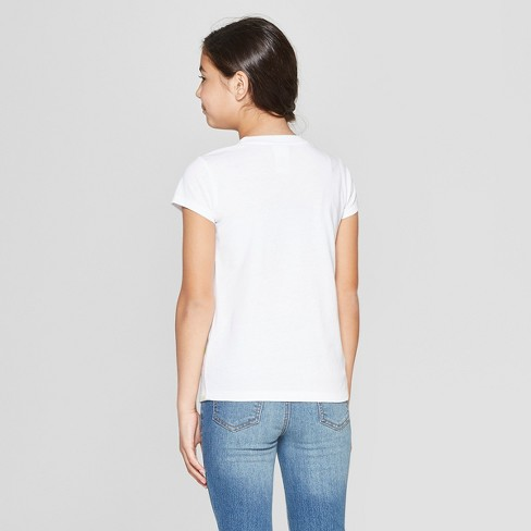 1ef770f7c552bb Girls' Wonder Woman Flip Sequin St. Patrick's Day Short Sleeve T-Shirt -  White : Target