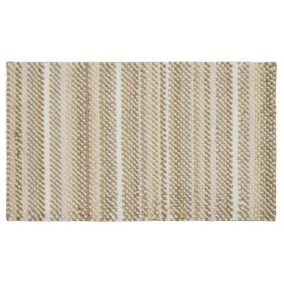 "24""x17"" Loop Memory Foam Accent Bath Rug Taupe - Room Essentials™"