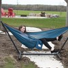 Vivere 9ft Polyester Mesh Double Hammock and Stand - image 2 of 4