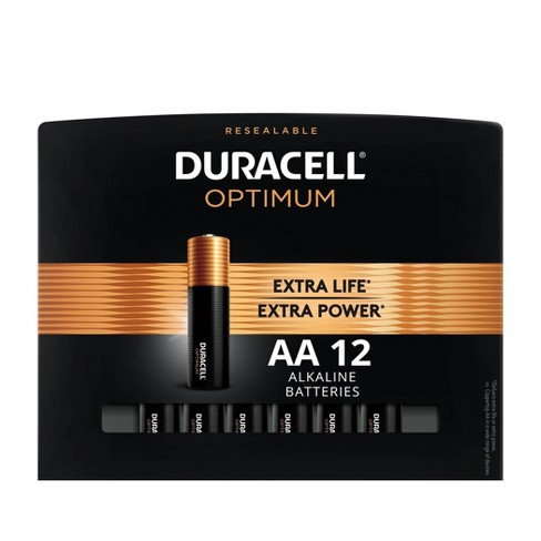 Duracell Optimum AA Batteries - 12 Pack Alkaline Battery with Resealable Tray - image 1 of 4