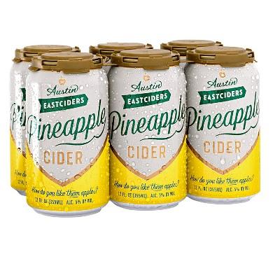 Austin Eastciders Pineapple Hard Cider - 6pk/12 fl oz Cans