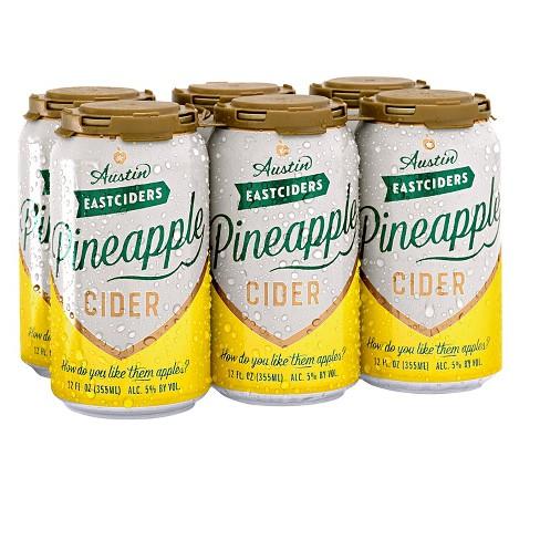 Austin Eastciders Pineapple Hard Cider - 6pk/12 fl oz Cans - image 1 of 3