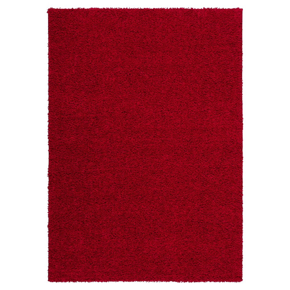 Nourison Solid Bonita Shag Area Rug - Red (5'X7')