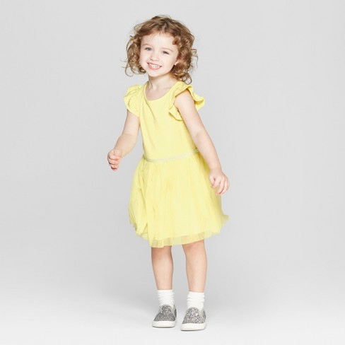 25522bfd7a3 Toddler Girls  Tutu Dress - Cat   Jack™ Yellow   Target