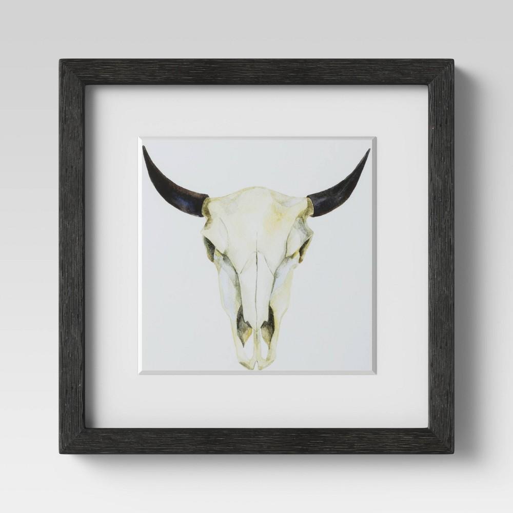 "Image of ""12"""" X 12"""" Buffalo Framed Print - Threshold"""