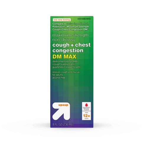 Cough & Chest Congestion DM Liquid - Raspberry Menthol - 8 fl oz - Up&Up™ - image 1 of 4