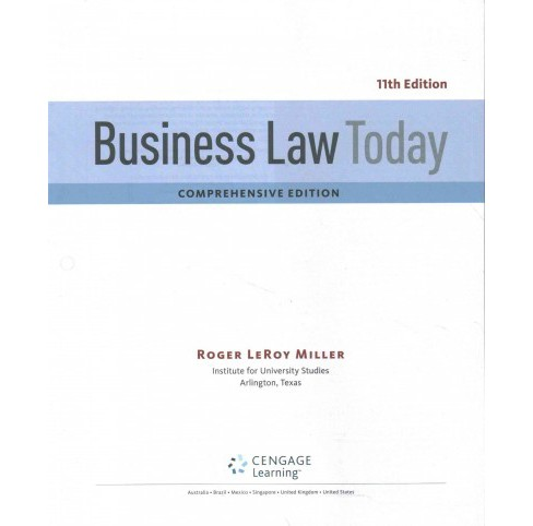 Business Law Today + Mindtap Business La (Comprehensive) (Mixed media product) - image 1 of 1