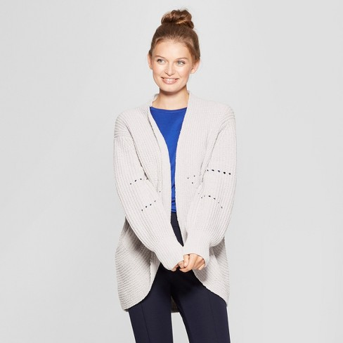 Women's Pointelle Chenille Cocoon Cardigan Sweater - A New Day™ - image 1 of 3