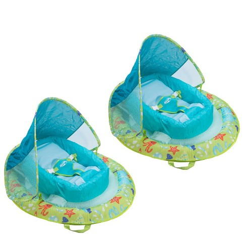 Swimways Fabric Infant Baby Spring Swimming Pool Float With Canopy (2 Pack)    Target 24b3e13f237f