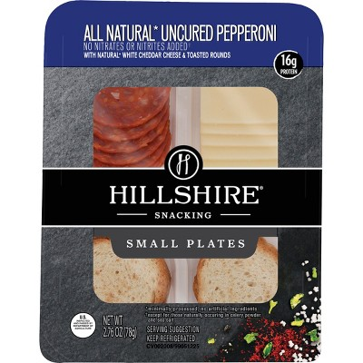 Hillshire Snacking All Natural Uncured Pepperoni with White Cheddar Cheese and Toasted Rounds - 2.76oz