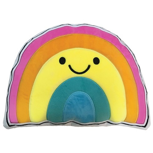 Two Scoops Rainbow with a Smile Fleece Pillow - image 1 of 2