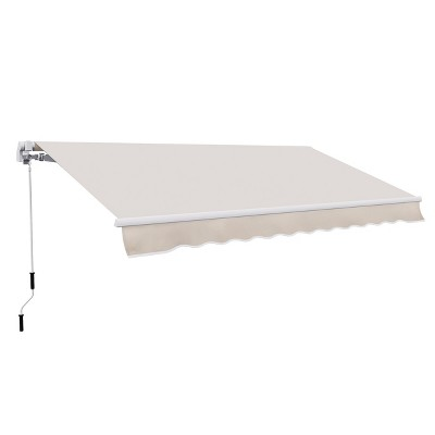 Outsunny 8' x 7' Retractable Patio Sunshade Awning