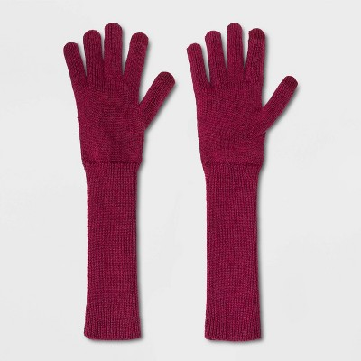 Women's Lightweight Long Knit Gloves - A New Day™ One Size
