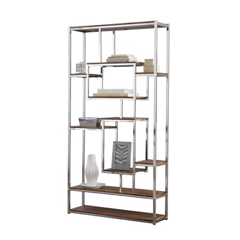 """71"""" Alize Book Shelf Natural and Chrome - Steve Silver - image 1 of 3"""