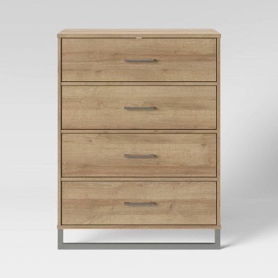 Mixed Material 4 Drawer Dresser Natural - Room Essentials™