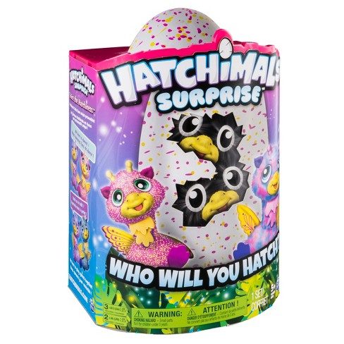 155f9b46bddc Hatchimals Surprise Giraven Hatching Egg w Surprise Twin by Spin Master -  Pink. Shop all Hatchimals