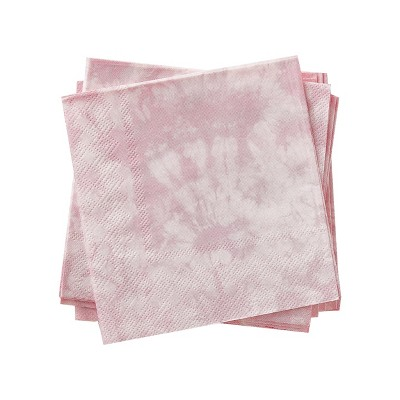 30pk Disposable Tie Dye Non Foil Beverage Napkins