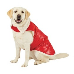 Corduroy Accent Dog Jacket - Red - Wondershop™