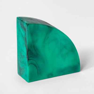 4.7  x 4.7  Faux Malachite Resin Bookend Green - Project 62™