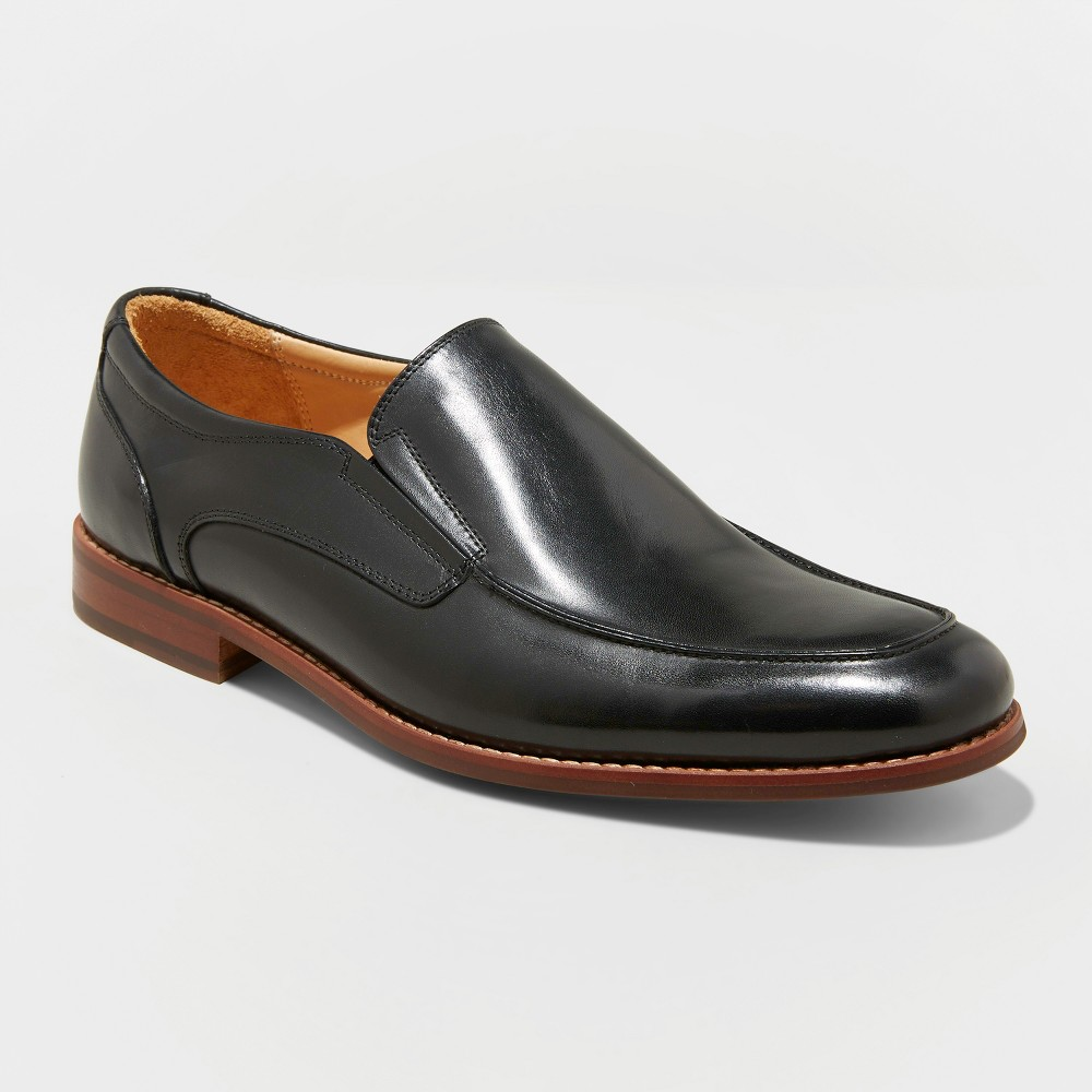 Men's Perry Leather Loafer Dress Shoes - Goodfellow & Co Black 10.5