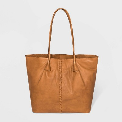 Bolo Zip Closure Garwood Tote Handbag - Brown