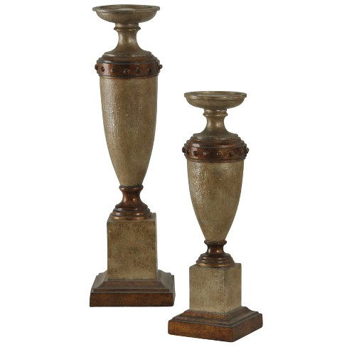 Candle Holder Set of 2 - Wood/Brown - image 1 of 1