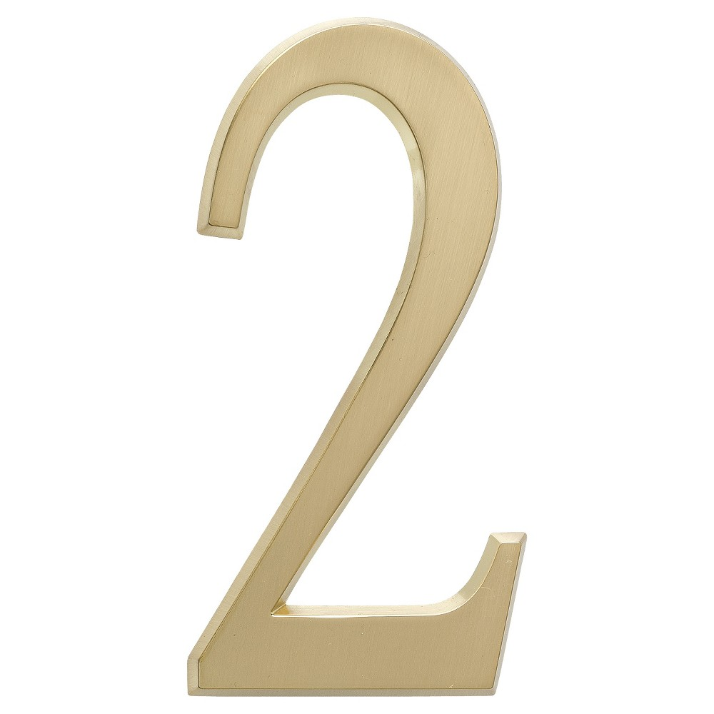 4.75 House Number 2 - Satin Brass - Whitehall Products