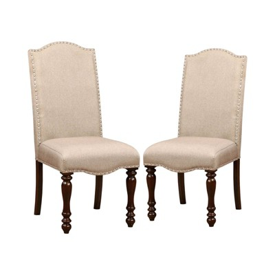 Set of 2 Lawson Classic Inspired Padded Side Dining Chair Antique Cherry - Sun & Pine