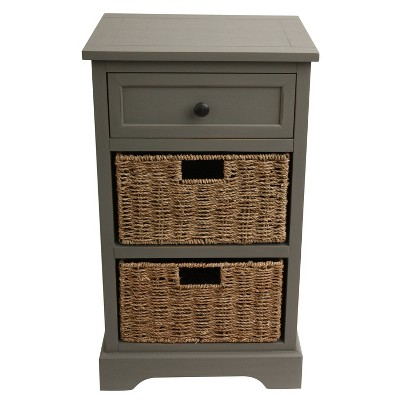 Montgomery One Drawer and 2 Basket Accent Chest - Décor Therapy