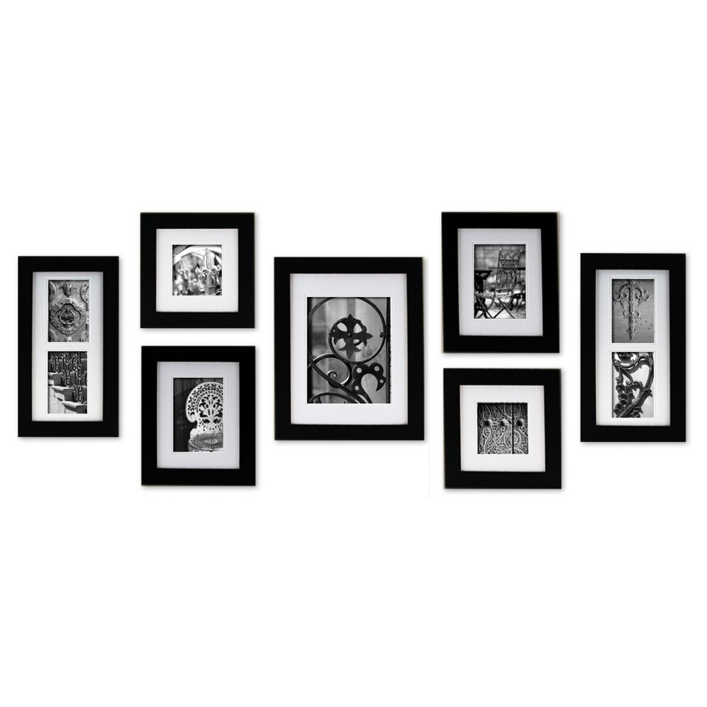 Image of Gallery Perfect 7 Piece Wall Frame Set - Black