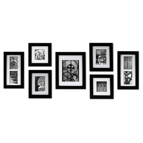 Gallery Perfect 7 Piece Wall Frame Set Black