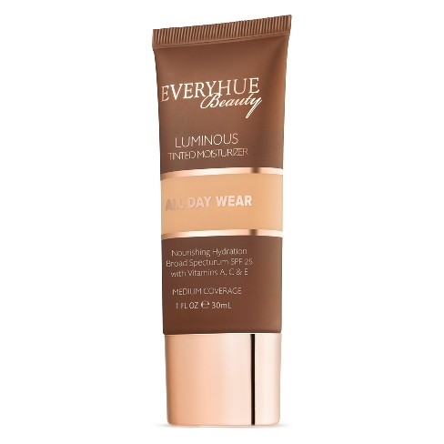 EveryHue Tinted Medium Coverage Moisturizer Satin Tan - 1 fl oz - image 1 of 3