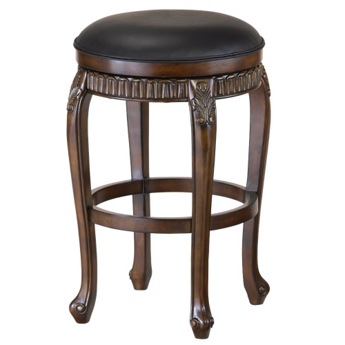 'Fleur de Lis Backless 24'' Counter Stool Hardwood/Cherry - Hillsdale Furniture'