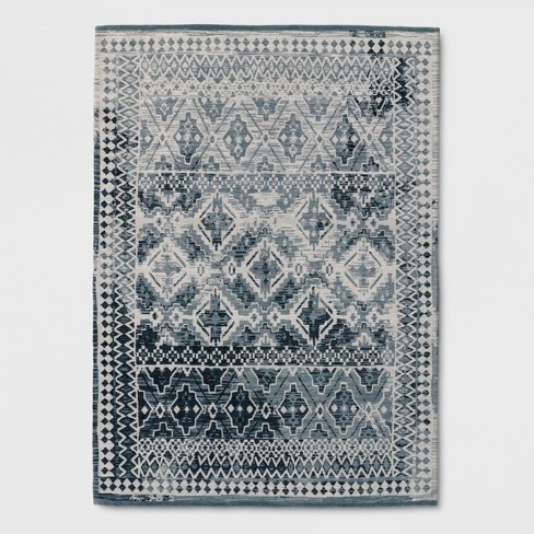 Tapestry Woven Accent Rug Turquoise - Threshold™ - image 1 of 3