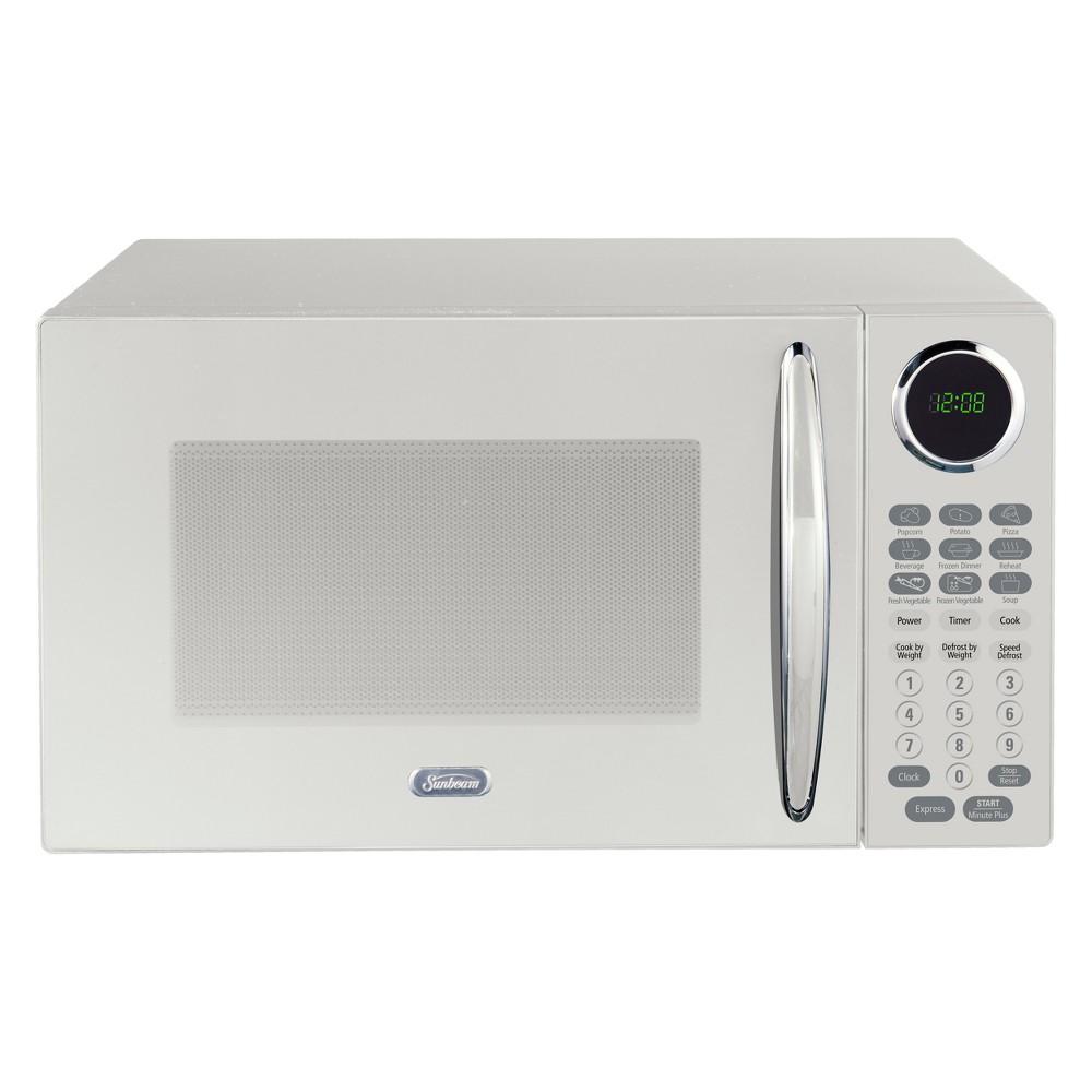 Sunbeam 0.9 cu ft 900W Microwave – White SGCMB809WE-09 53241367