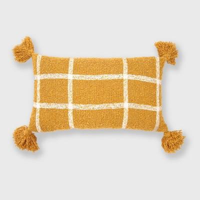 Plaid Boucle Woven Throw Pillow - Evergrace