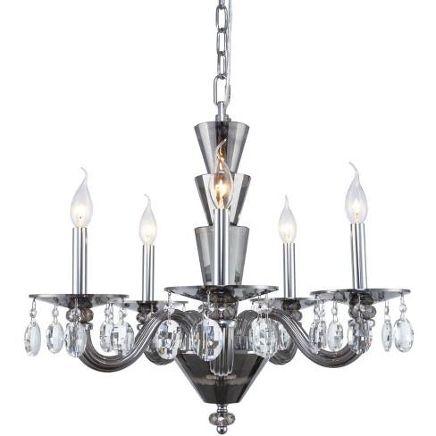 "Elegant Lighting 7870D23/RC Augusta 5 Light 23"" Wide Pillar Candle Chandelier - image 1 of 1"