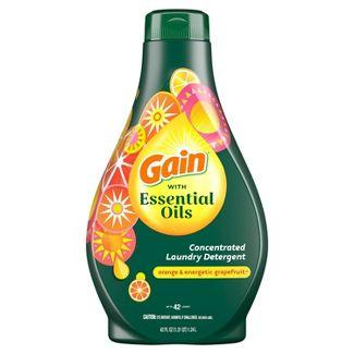 Gain with Essential Oils Orange & Energetic Grapefruit Liquid Laundry Detergent - The Uplifting Scent - 42 fl oz