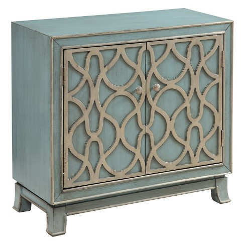 Christopher Knight Home Marvelous Storage Cabinet Blue/Green - image 1 of 4