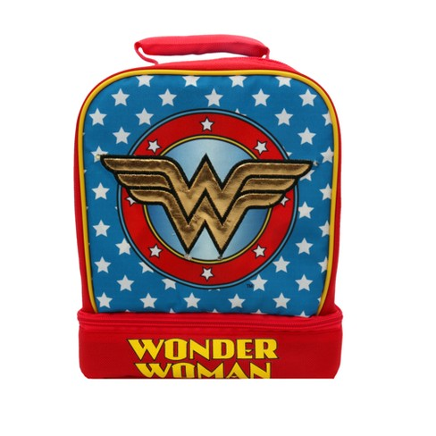 Wonder Woman Light Up Dome Lunch Tote - Blue - image 1 of 5