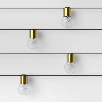 10ct Incandescent G40 String Lights Brass - Project 62™