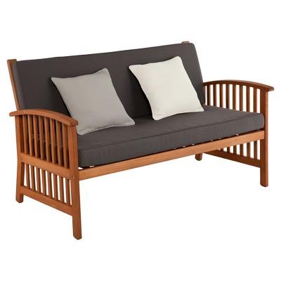 Castille Brazilian Hardwood Outdoor Sofa - Natural - Aiden Lane